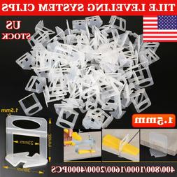 400-4000PCS Tile Leveling System Clip Floor Wall Tiling Spac