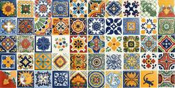 50 MEXICAN ASSORTED TILES 4x4 HANDMADE WALL FLOOR USE POTTER