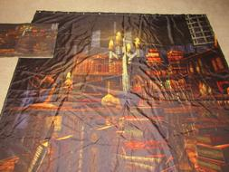 Halloween Large Books Witchcraft SHOWER CURTAIN AND FLOOR MA