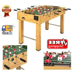 Wooden Soccer Foosball Table W/ 2 Balls Cup Holders 48In Hom